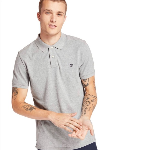 Timberland Miller River Pique Men Polo Shirt Grey